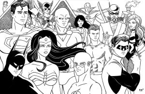 JLA Groupshot by RichBernatovech