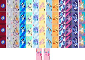 my little pony playing cards by domatophobia