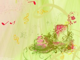 Full of Flowers and Music by Faerix