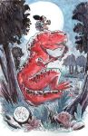 Watercolor: Devil Dinosaur and Moon Girl by mikemaihack