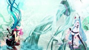 Miku Hatsune wallpaper FREE by XxClaireStrifexX