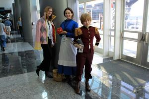 Howl, Sophie, Calcifer, and Latvia by badangel2012