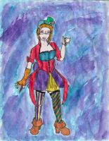 Mad Hattress Watercolored by x13supernova13x