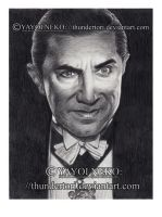Lugosi in graphite by Thundertori