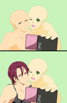 Base - Slefie Blank + Rin and Blank by Butterfly-Bases