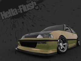 Hellaflush Civic by SamauriPizzaCats