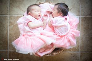 My Twin Girls, 7 days old by aimeekitty