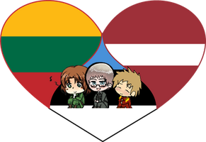 Baltic Trio Shimeji Heart by LadyAxis