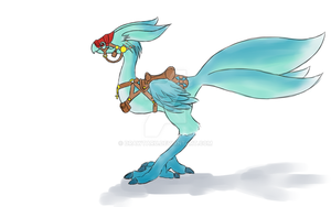 Carbuncle Chocobo Barding by Drawtaru