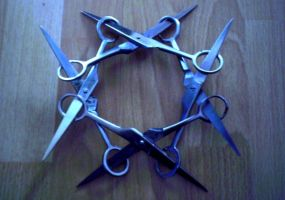 scissors shuriken by konstancja