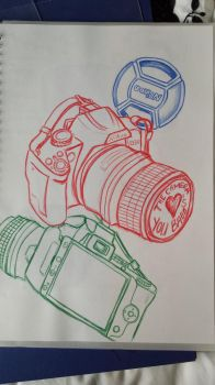 Multi-coloured Cameras - Different Perspectives by AmyTheStrange1