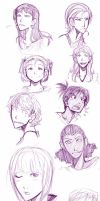Girl Faces by Scotty6000