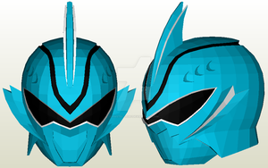 Shark Spirit Ranger Helmet Papercraft by Pastel-Leaf