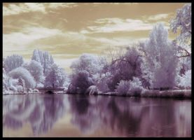 Pittville Park in Infrared by bowdie