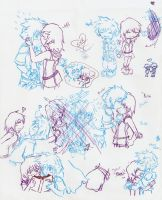 Kingdom Hearts Doodles by oathkeeper3