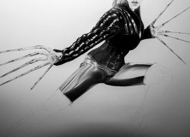 Lady Deathstrike - WIP 02 by DiRi