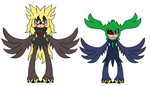 Black wing Harpie Sister, Whirlwind and Gale by R-CoMiX