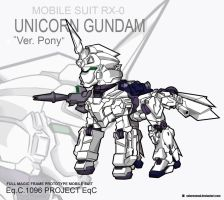 Crossover - Unicorn Gundam Ver. Pony by ValorNomad