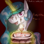 Princess Celestia: Happy Birthday! by Dragk