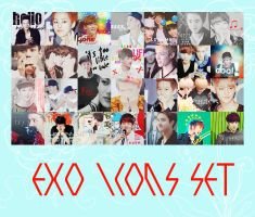 EXO ICONS SET by kamjong-kai