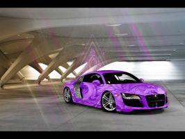Audi R8 for Da purple day by Osama7