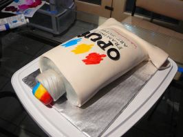 Opus Paint Tube Cake 1 by DavidArsenault