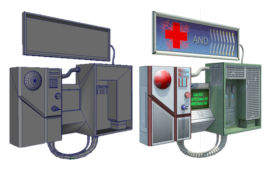 Health and Ammo dispenser by DILLYbOd