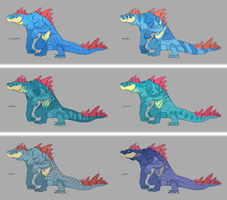 Feraligatr Variations [comm] by CoryKatze