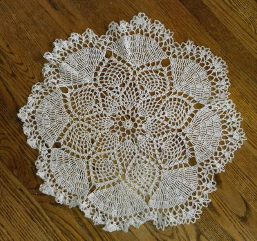 dove doily  by TehKnittyKitty