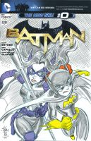 Huntress and Batgirl- sketch cover by tombancroft