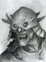 Art card Sketch - goblin orc by BrittMartin