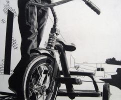 RISD bike drawing by TomSchmitt