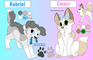 Gabriel and Ember Reference by boxes-of-foxxes