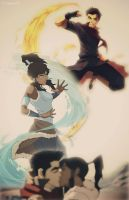 Korra and Mako by BeSlytherin