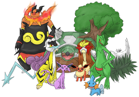 Pokemon Mash-Up by thecatKShiki