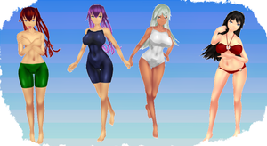 MMD Curvy Swimsuits by MMD3DCGParts