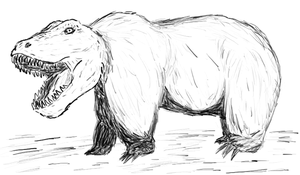 Dinobear by chimericalwarfare