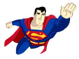 Superman Paper Cutout Flying by say-andy