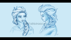 Elsa from Frozen by Jullelin