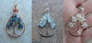 New Stormy Tree of Life Pendants by magpie-poet
