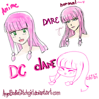 Dare 3 versions by Kamii-san