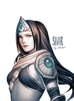 sivir sketch by justduet