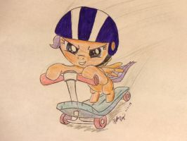 Scootaloo - High Speed by holographic-poptarts