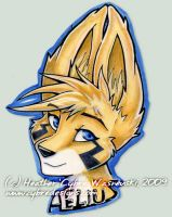 Anthrocon Badge :: Aelius by cybre