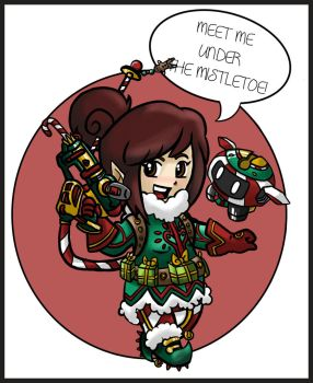 Santa's Helper Mei by Queen-Of-Cute