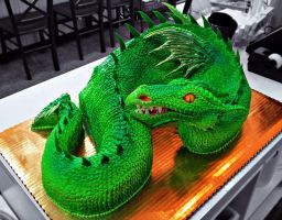 Green Dragon Cake by The-EvIl-Plankton