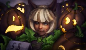 Ms. Fortune pumpkins by IxtianArt