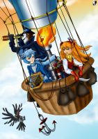 In a balloon. by Lord--Opal