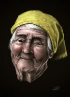 old woman by gerbenher