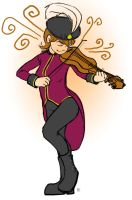 Stuaroo and her Violin by origamidude